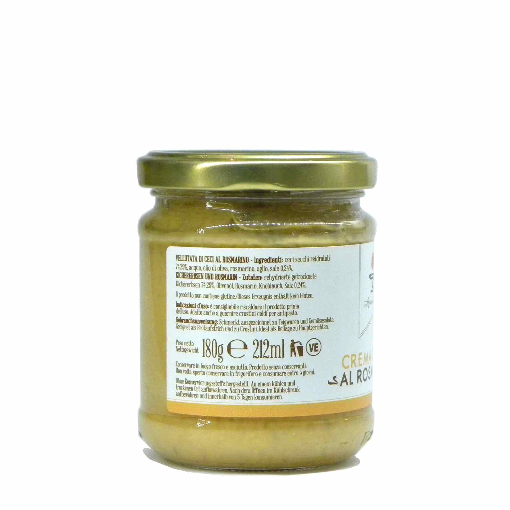 Agricola del Sole chick peas cream velvet – Agricola del Sole Crema ceci rosmarino – Gustorotondo – Italian food boutique