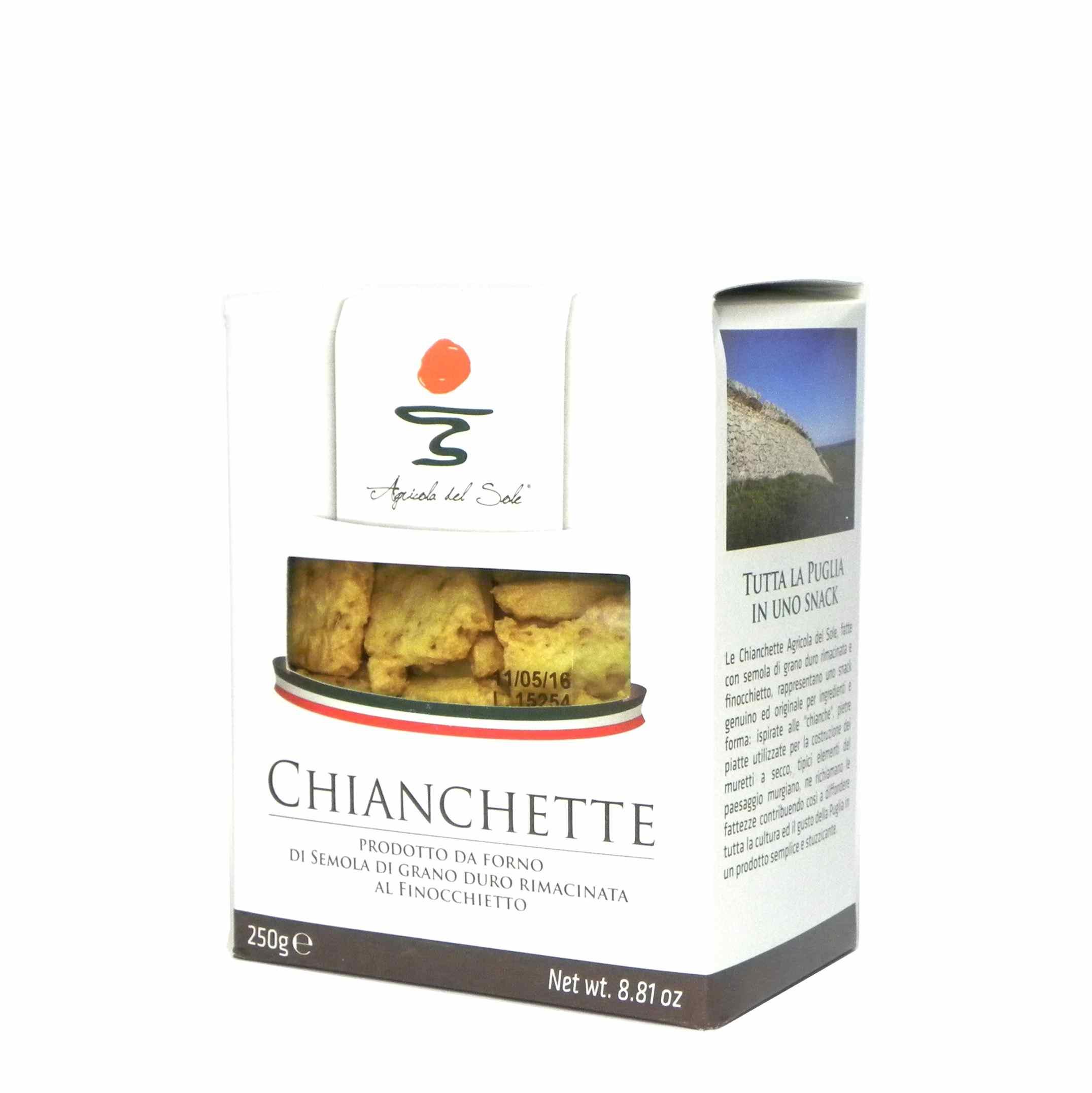 Agricola del Sole Chiancgette – Apulia Chianchette – Gustorotondo – Italian food boutique