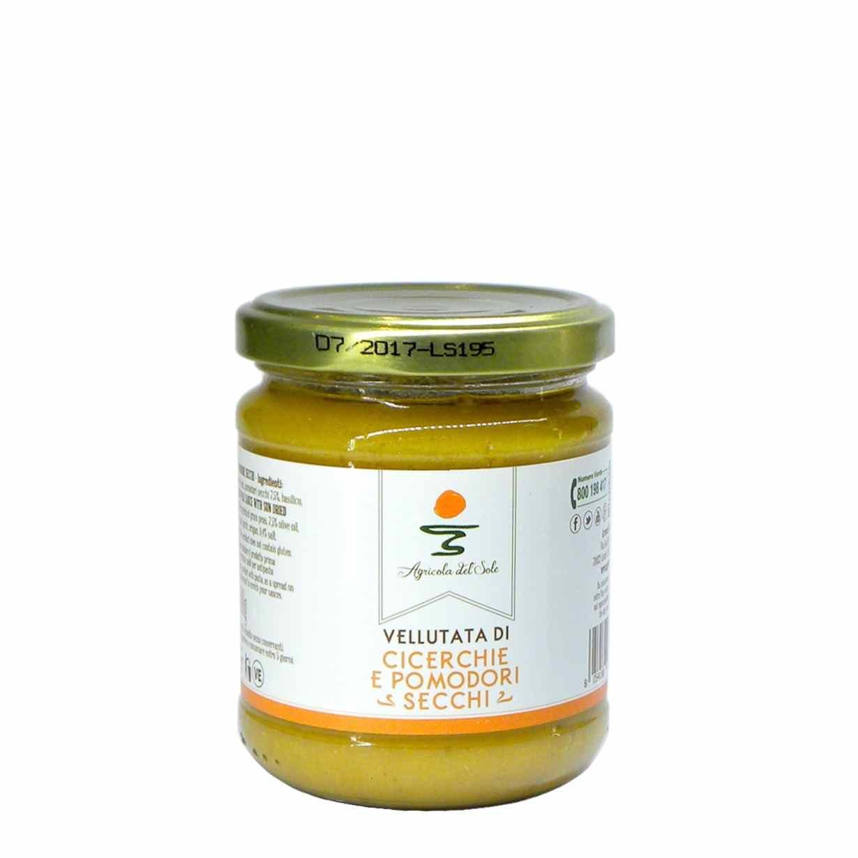 Agricola del Sole grass pea dried tomatoes velvet – Agricola del Sole vellutata cicerchie pomodori secchi – Gustorotondo – Italian food boutique
