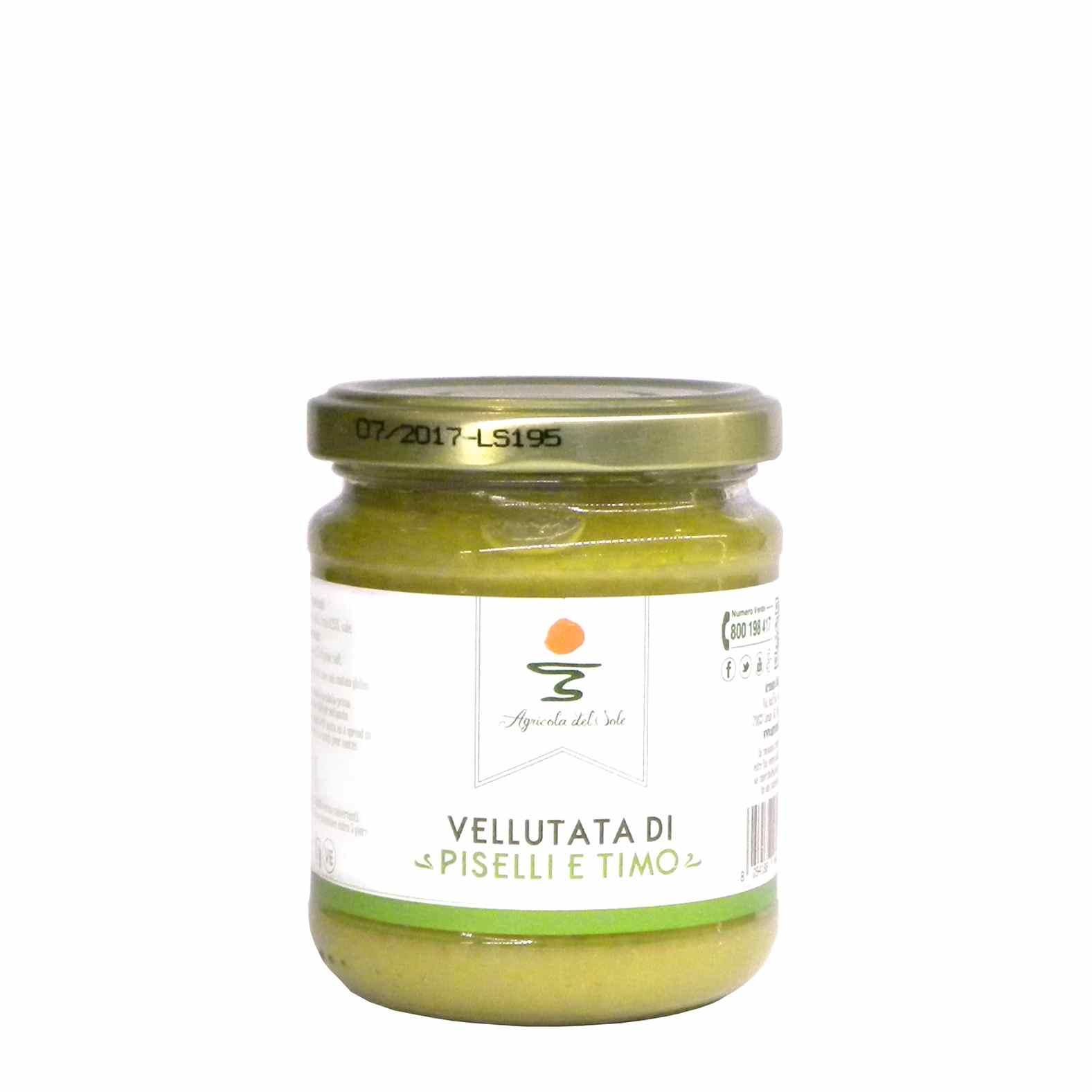 Agricola del Sole Peas thyme soup – Agricola del Sole Vellutata piselli timo – Gustorotondo – Italian food boutique