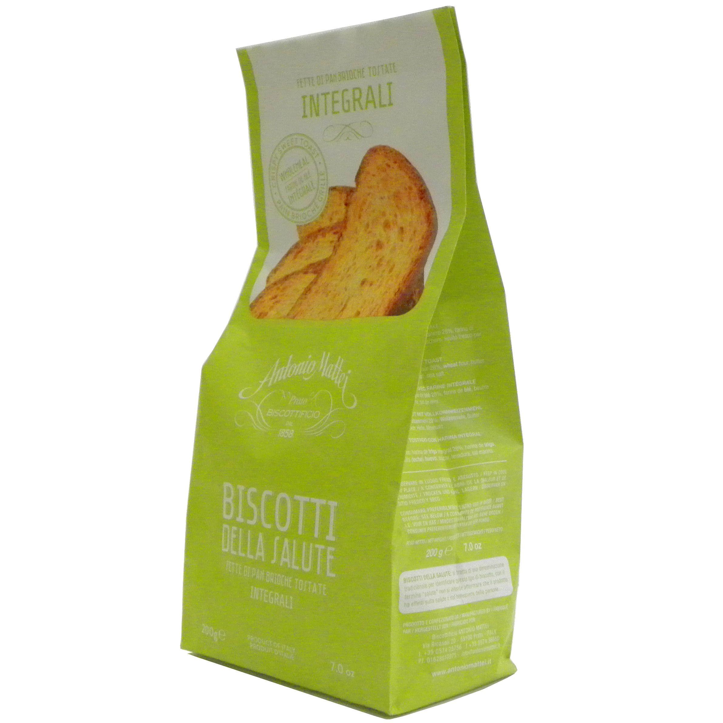 Biscotti Salute Integrali Mattei – Whole wheat Grilled Bread Mattei – Gustorotondo – Italian food boutique