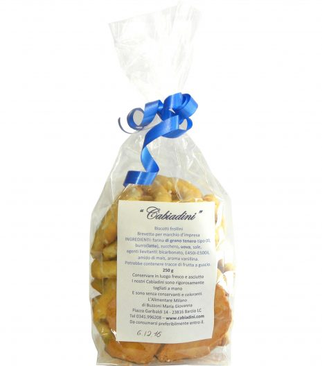 Cabiadini Biscotti 250 g- Cabiadini cookies 250 g - Gustorotondo - Italian food boutique