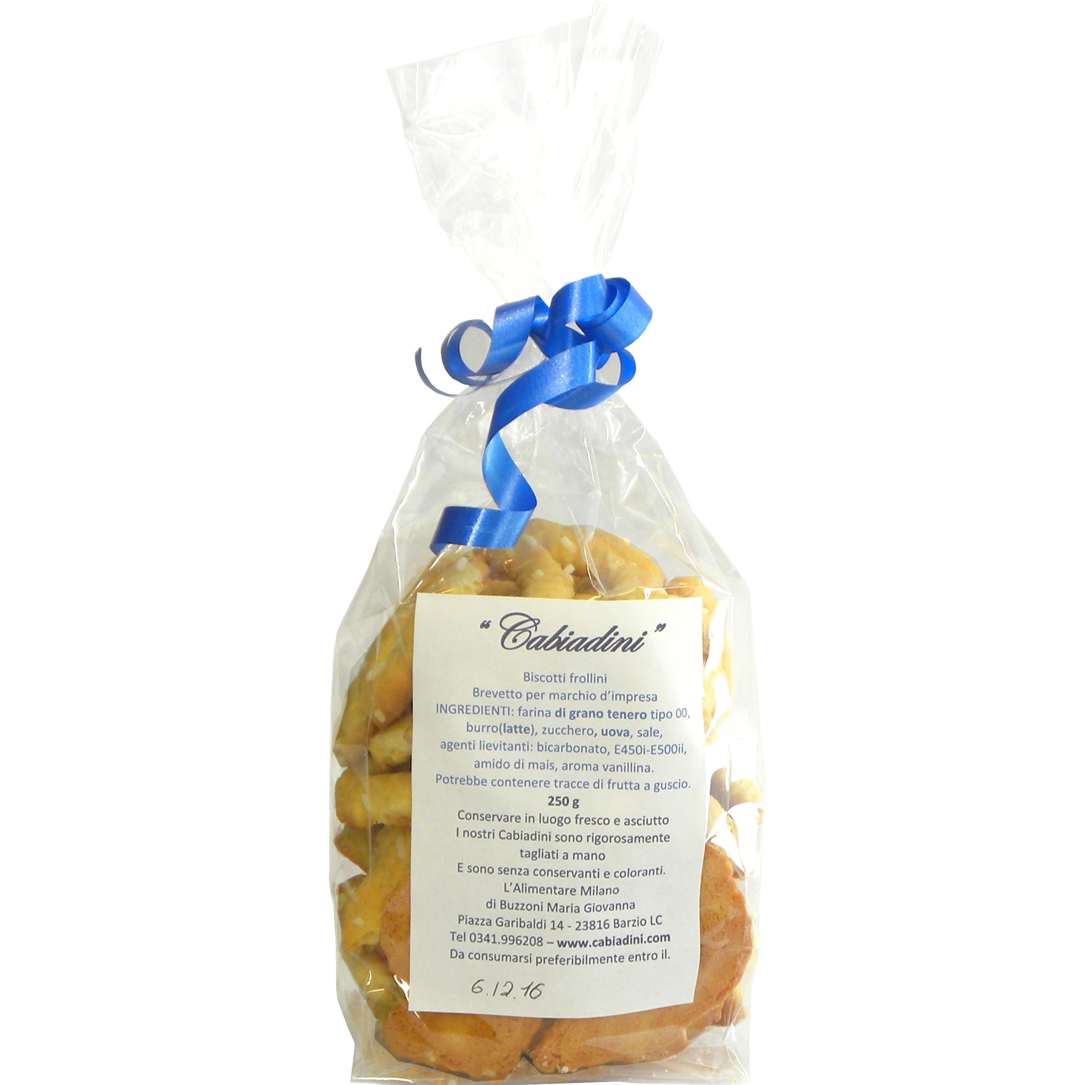 Cabiadini Biscotti 250 g- Cabiadini cookies 250 g – Gustorotondo – Italian food boutique