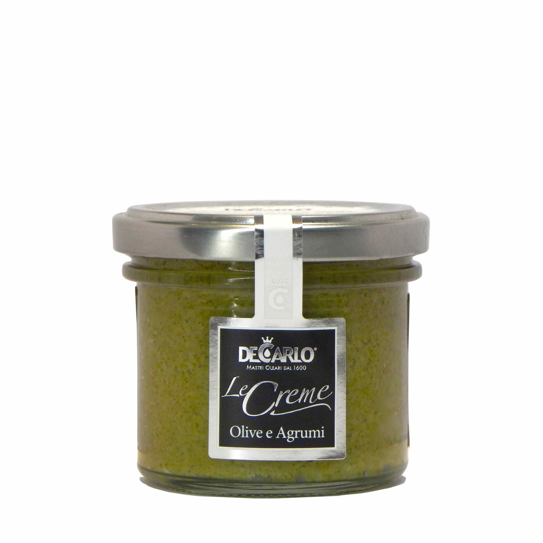 De Carlo olive verdi agrumi – De Carlo green olives citrus fruits bruschetta – Gustorotondo – Italian food boutique