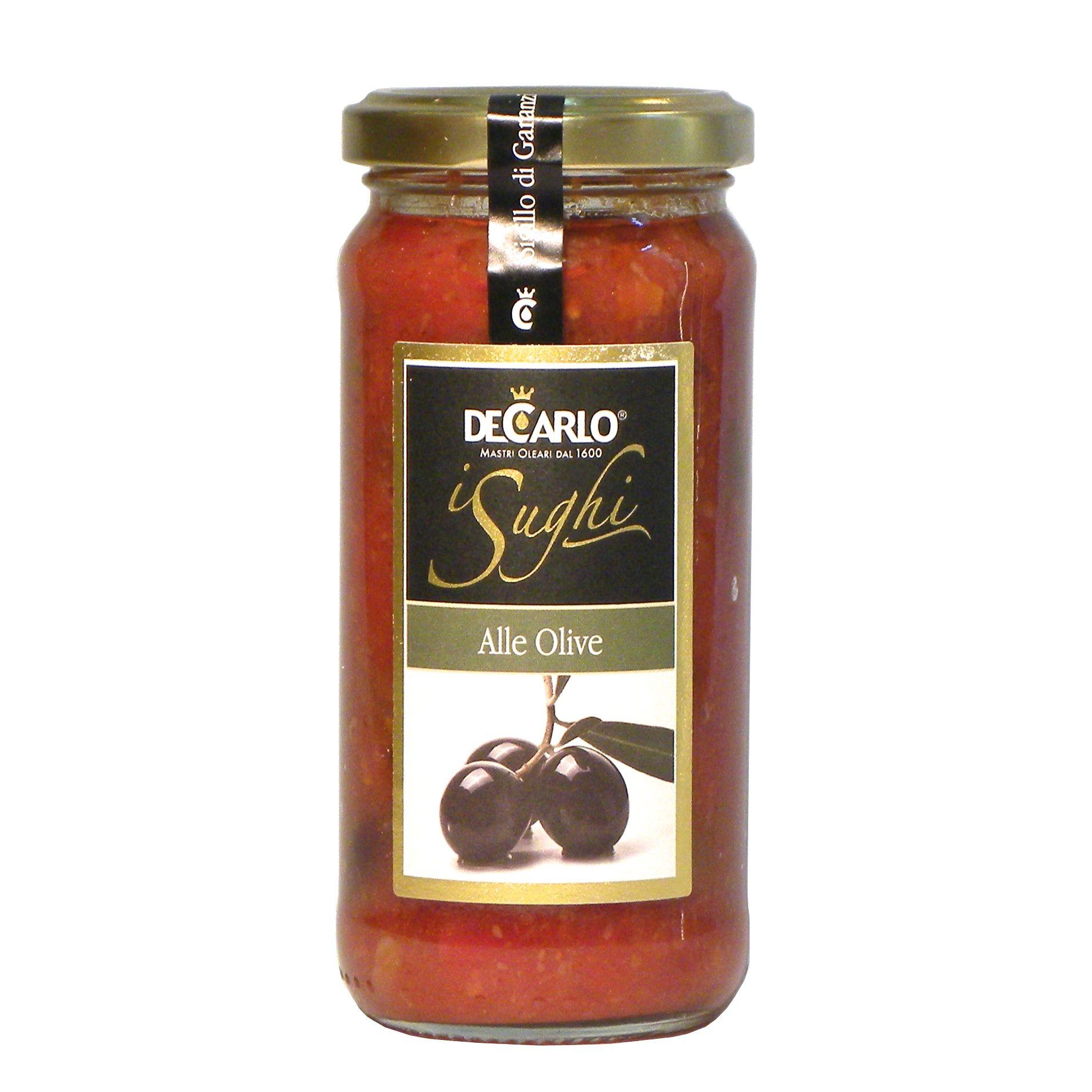 De Carlo Sugo olive – De Carlo Pasta sauce olives – Gustorotondo – Italian food boutique