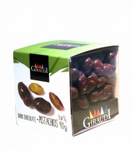 Giraudi dark chocolate pistachios - Giraudi dragee cioccolato fondente pistacchi - Gustorotondo - Italian food boutique