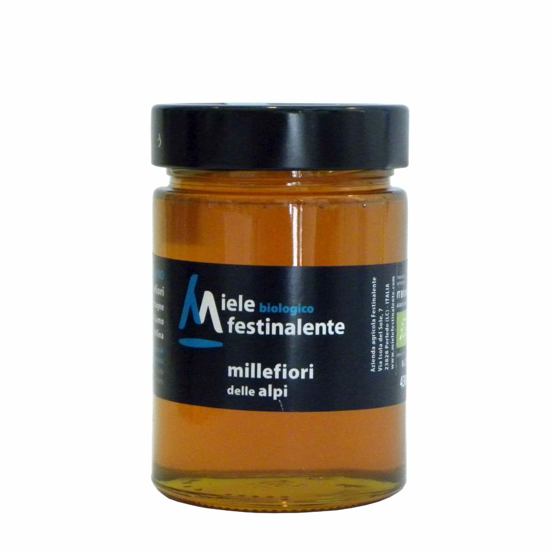 Festinalente miele bio millefiori alpi – Festinalente organic raw alps thousand flowers honey – Gustorotondo – Italian food boutique