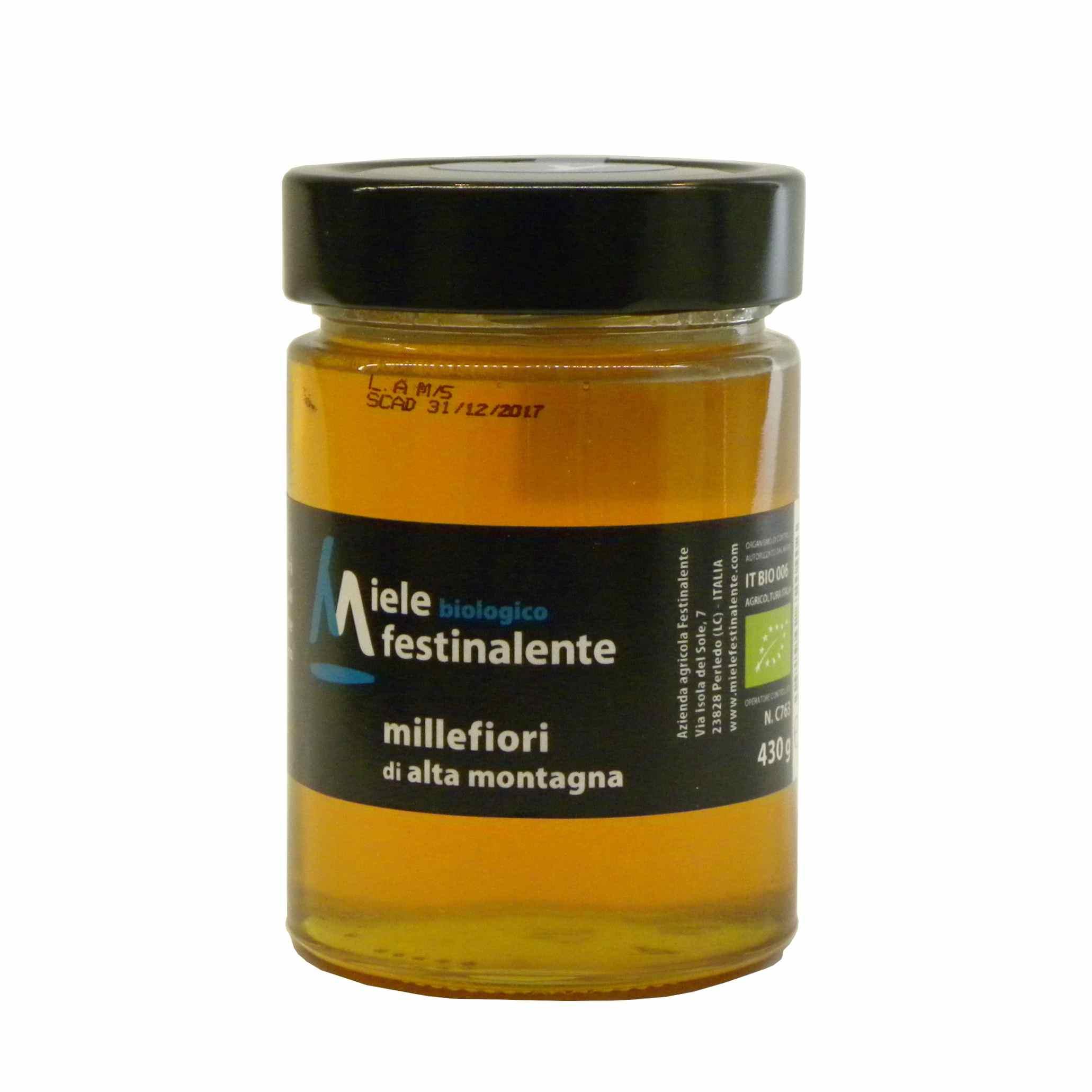 Festinalente miele bio millefiori – Festinalente organic raw mountain thousand flowers honey – Gustorotondo – Italian food boutique