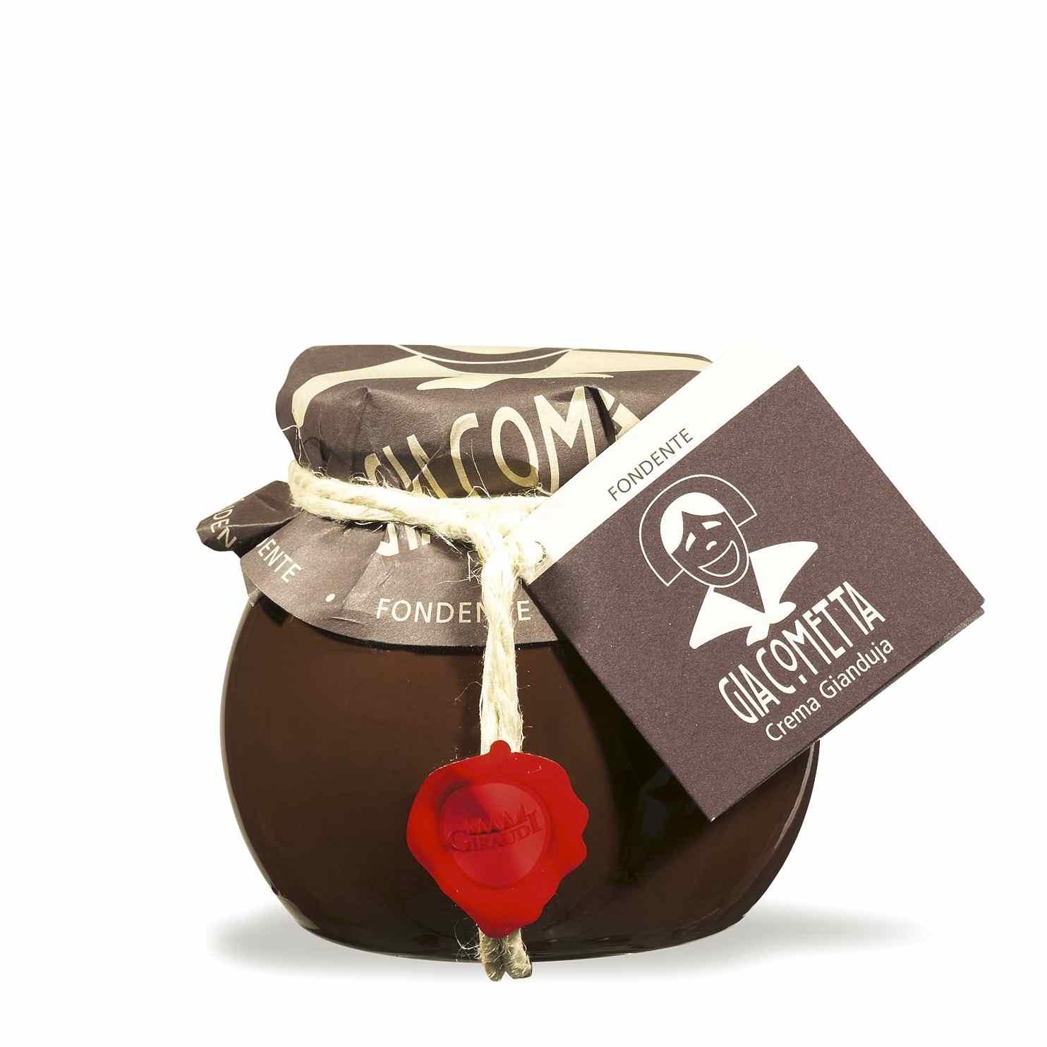 Giraudi Giacometta fondente 300 g – Giraudi dark Giacometta hazelnuts spread 300 g – Gustorotondo – Italian food boutique
