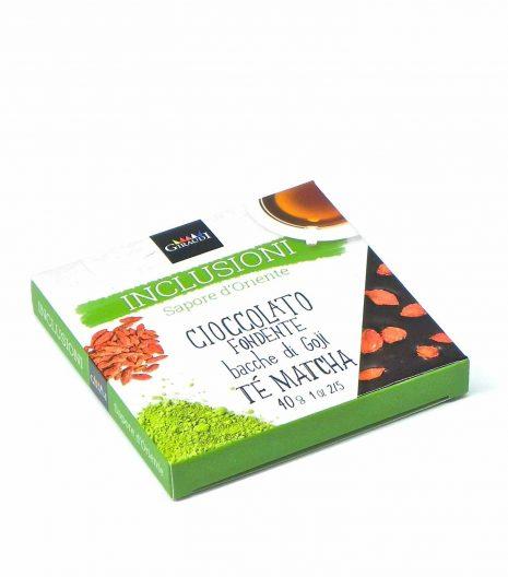 Giraudi inclusioni chocolate goji berries matcha tea - Giraudi inclusioni cioccolato bacche di goji tè matcha - Gustorotondo - Italian food boutique