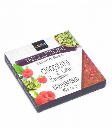 Giraudi inclusioni chocolate Raspberry Cardamom - Giraudi inclusioni cioccolato lampone cardamomo - Gustorotondo - Italian food boutique