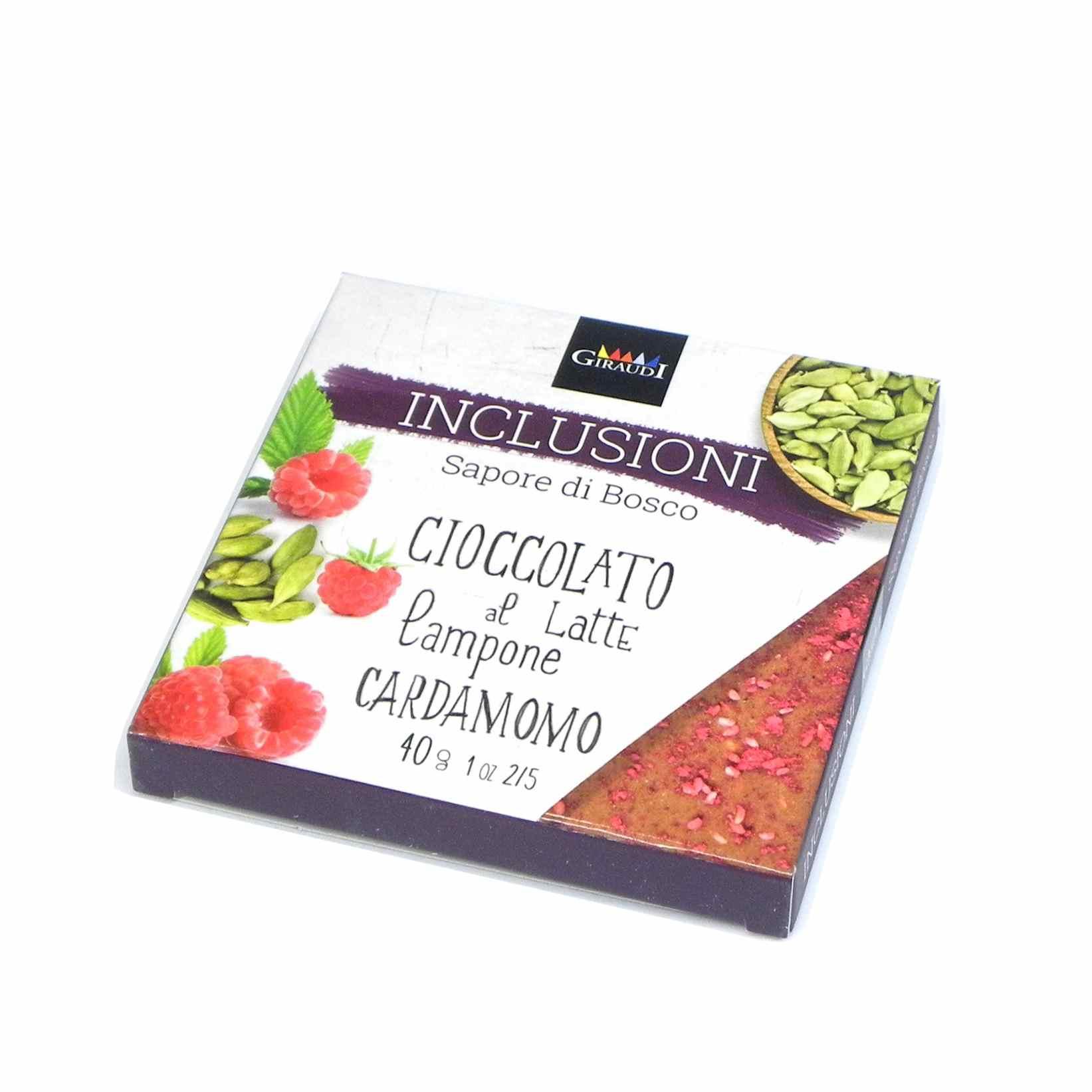 Giraudi inclusioni chocolate Raspberry Cardamom – Giraudi inclusioni cioccolato lampone cardamomo – Gustorotondo – Italian food boutique