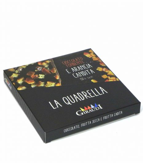 Giraudi quadrella frutta candita cioccolato fondente - Giraudi quadrella dark chocolate candied fruits - Gustorotondo - Italian food boutique