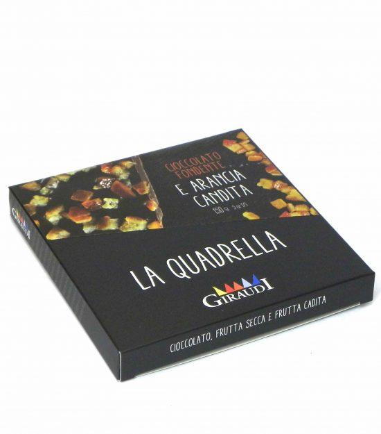 Giraudi quadrella frutta candita cioccolato fondente – Giraudi quadrella dark chocolate candied fruits – Gustorotondo – Italian food boutique