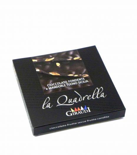 Giraudi quadrella mandorle cioccolato fondente - Giraudi quadrella dark chocolate almonds - Gustorotondo - Italian food boutique