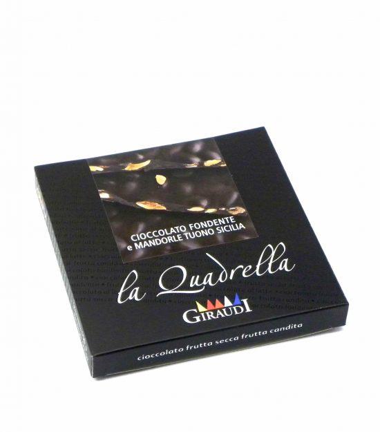 Giraudi quadrella mandorle cioccolato fondente – Giraudi quadrella dark chocolate almonds – Gustorotondo – Italian food boutique