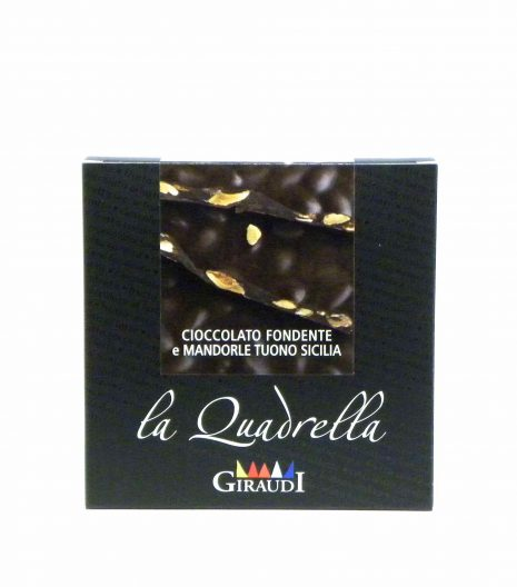 Giraudi quadrella mandorle cioccolato fondente - Giraudi quadrella dark chocolate almonds - Gustorotondo - Italian food boutique