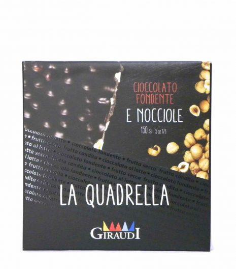 Giraudi quadrella nocciole cioccolato fondente - Giraudi quadrella dark chocolate hazelnuts - Gustorotondo - Italian food boutique