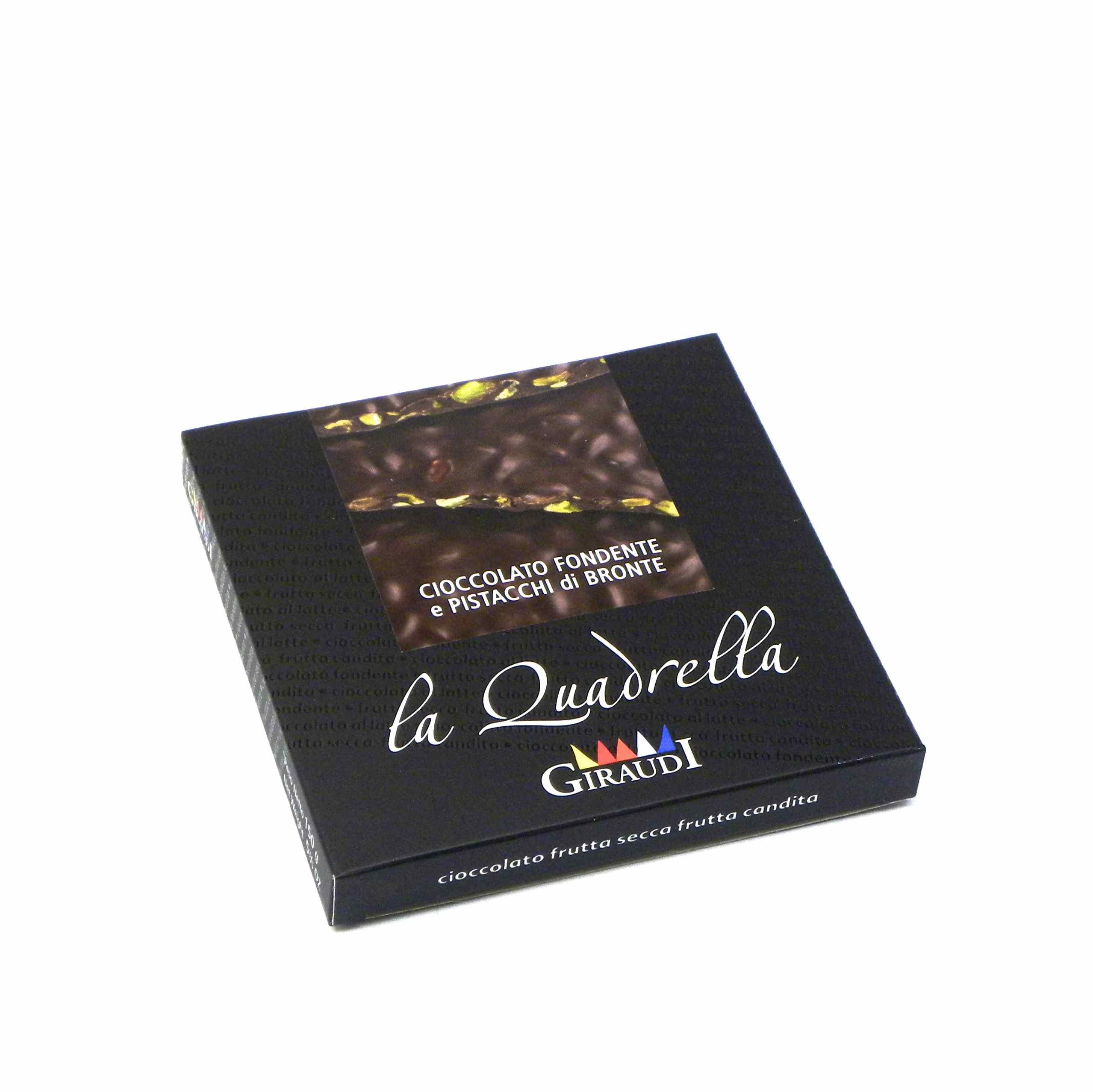 Giraudi quadrella pistacchio cioccolato fondente – Giraudi quadrella dark chocolate pistacchio – Gustorotondo – Italian food boutique