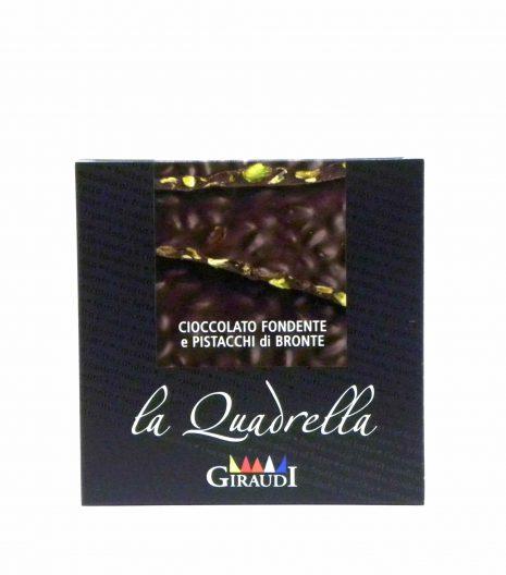 Giraudi quadrella pistacchio cioccolato fondente - Giraudi quadrella dark chocolate pistacchio - Gustorotondo - Italian food boutique