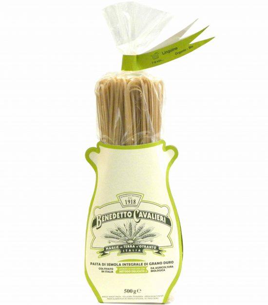 Benedetto Cavalieri Pasta Linguine Bio Integrali – Benedetto Cavalieri Organic Whole wheat pasta Linguine – Gustorotondo – Italian food boutique