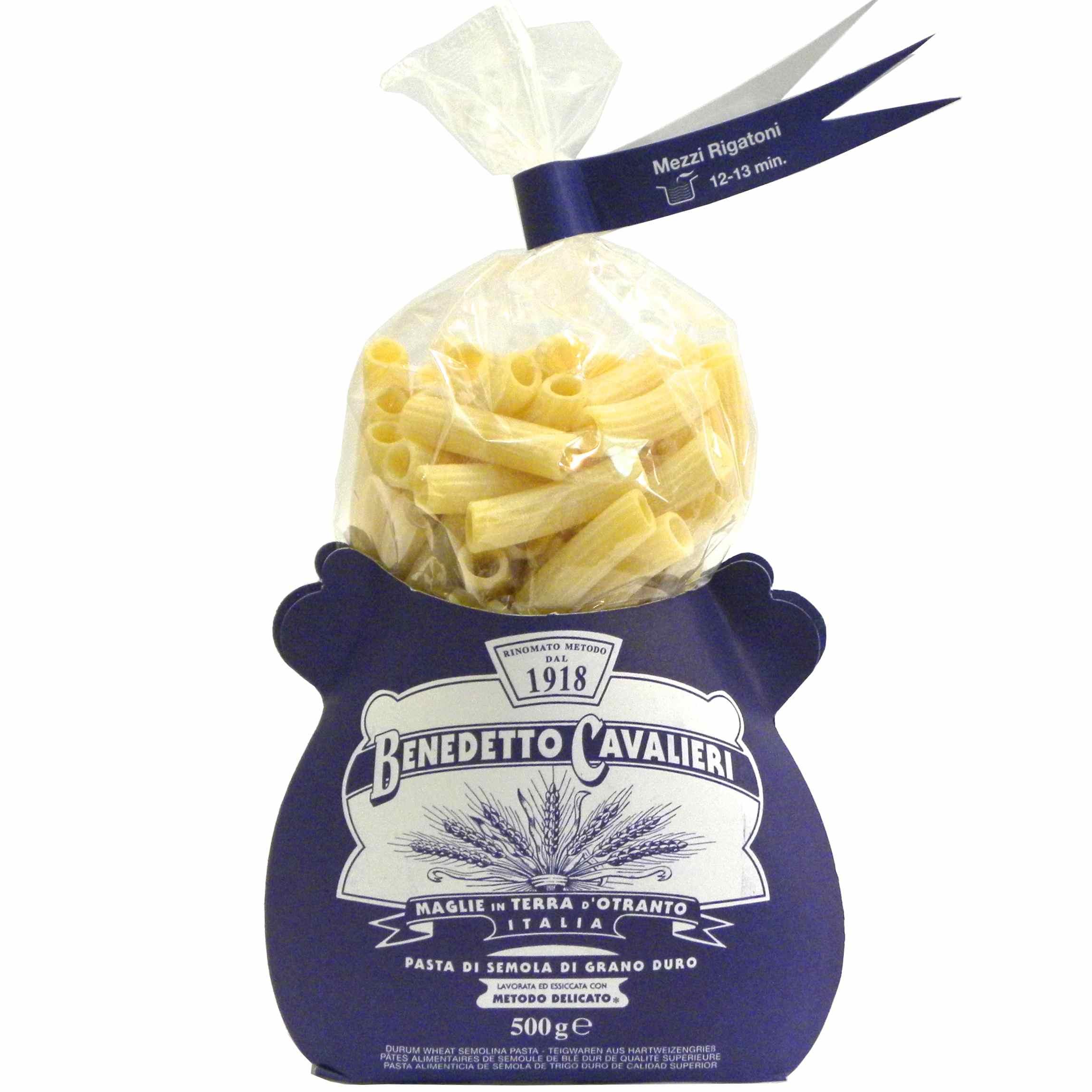 Benedetto Cavalieri Pasta Mezzi rigatoni – Gustorotondo – Italian food boutique