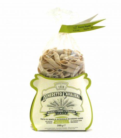 Benedetto Cavalieri Pasta Penne rigate Bio Integrali - Benedetto Cavalieri Organic Whole wheat pasta Penne Rigate - Gustorotondo - Italian food boutique