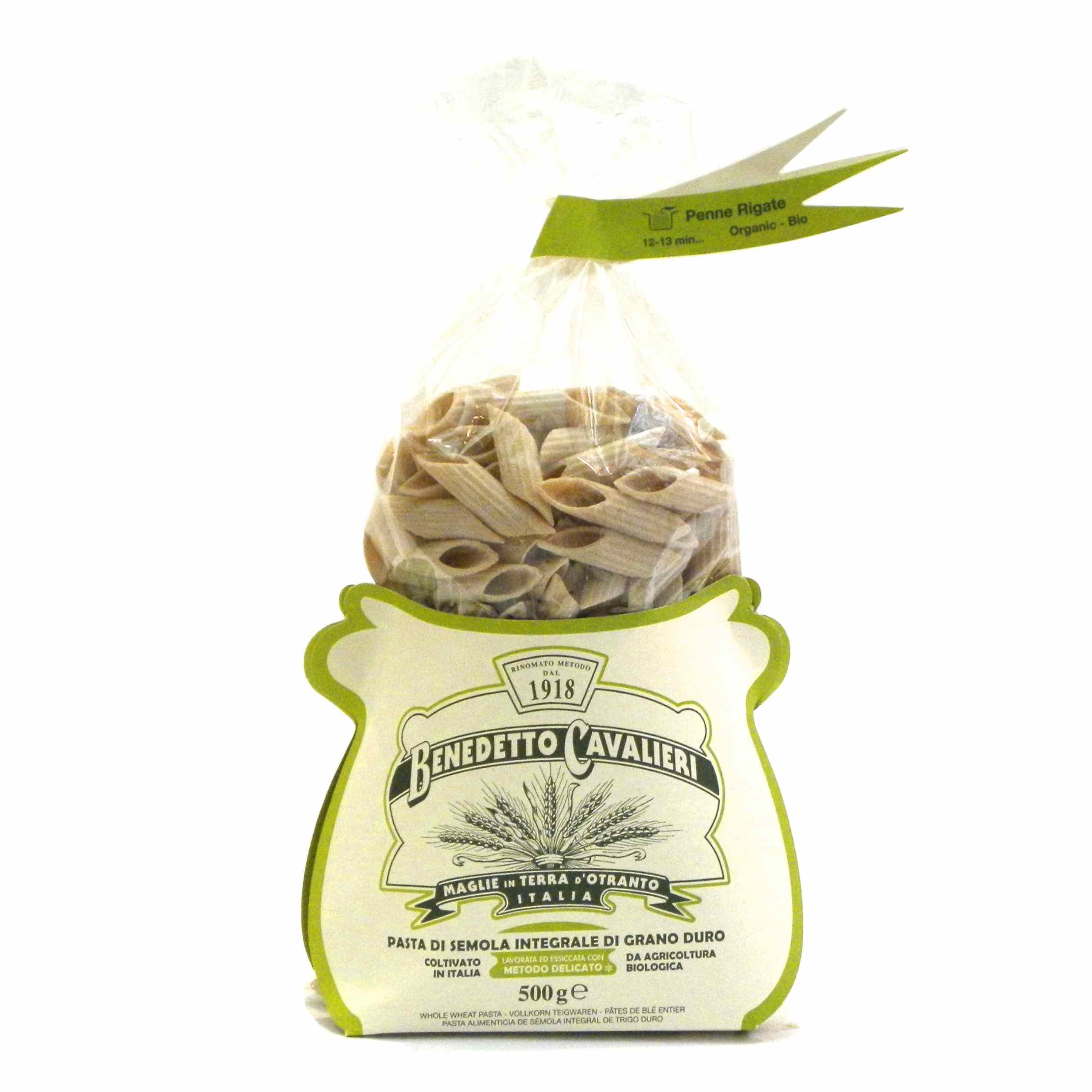 Benedetto Cavalieri Pasta Penne rigate Bio Integrali – Benedetto Cavalieri Organic Whole wheat pasta Penne Rigate – Gustorotondo – Italian food boutique