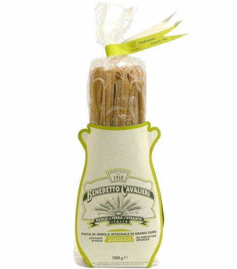 Benedetto Cavalieri Pasta Tagliatelle Bio Integrali - Benedetto Cavalieri Organic Whole wheat pasta tagliatelle -Gustorotondo - Italian food boutique