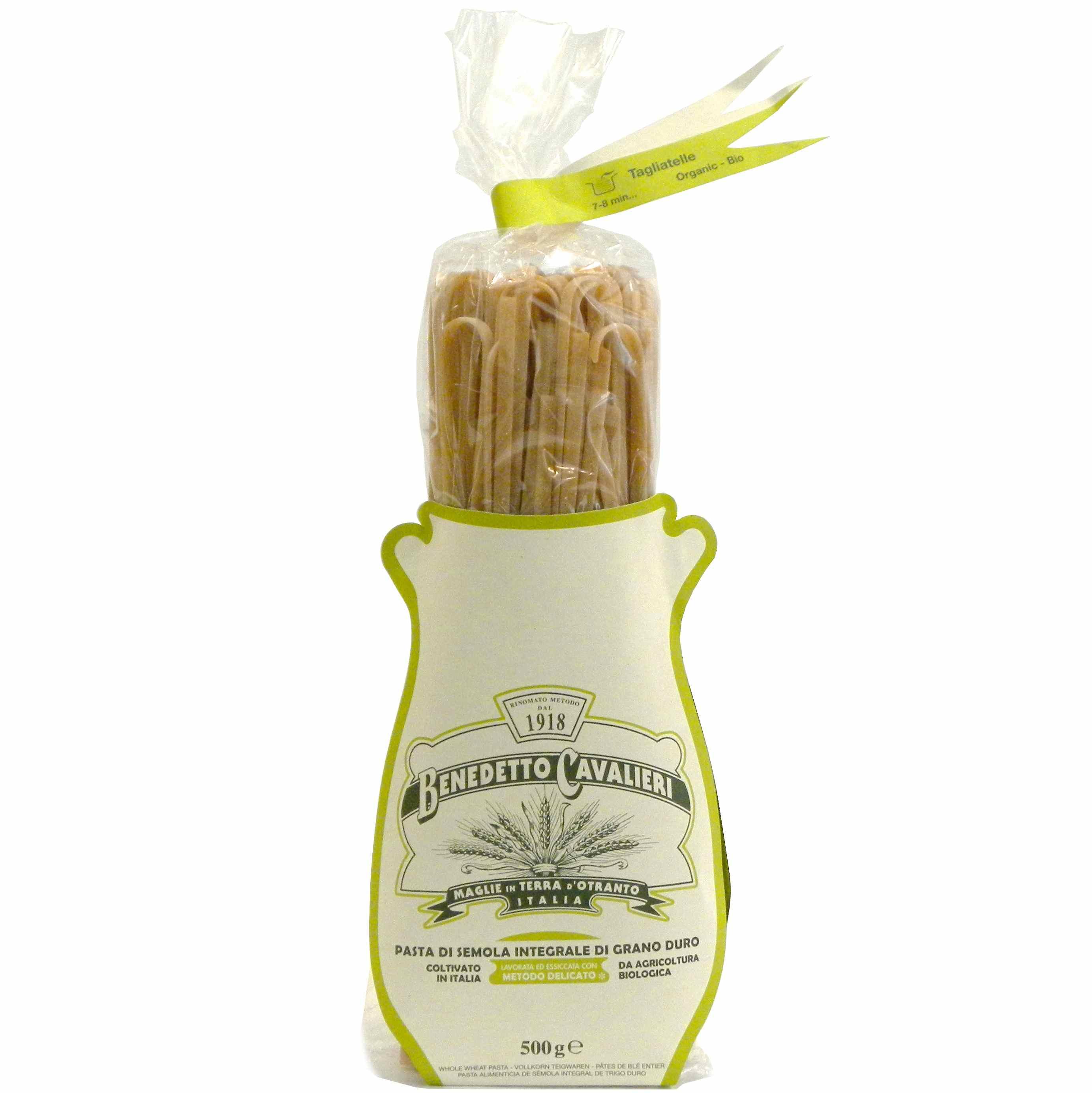 Benedetto Cavalieri Pasta Tagliatelle Bio Integrali – Benedetto Cavalieri Organic Whole wheat pasta tagliatelle -Gustorotondo – Italian food boutique