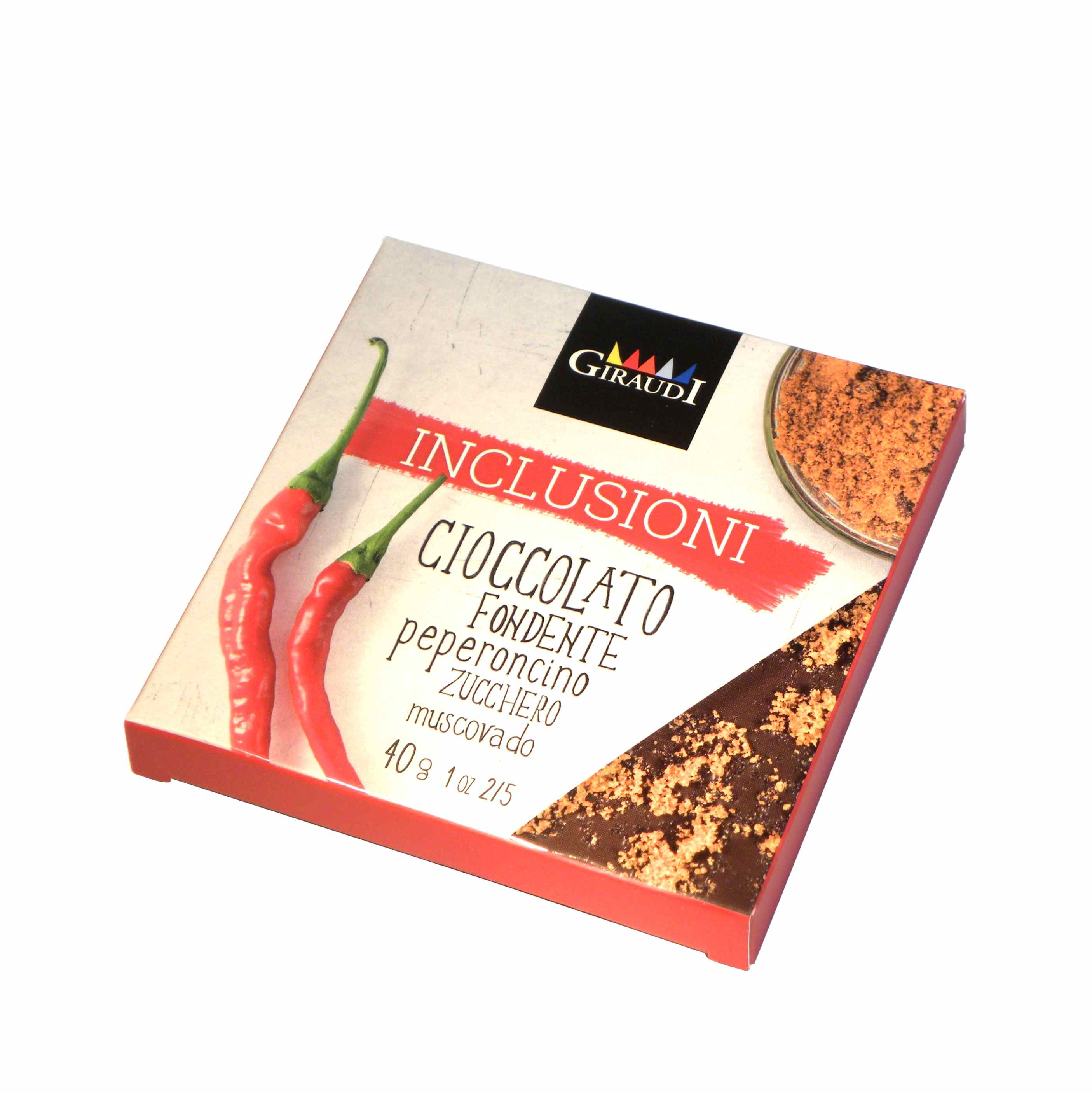 Giraudi tavoletta inclusioni cioccolato fondente peperoncino zucchero muscovado – Giraudi chocolate bar Dark Chocolate with Chili Pepper and Muscovado Sugar  – Gustorotondo – Italian food boutique