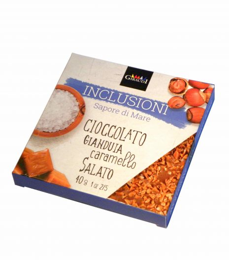 Giraudi tavoletta inclusioni gianduia caramello salato - Giraudi chocolate bar Gianduia with salted caramel - Gustorotondo - Italian food boutique