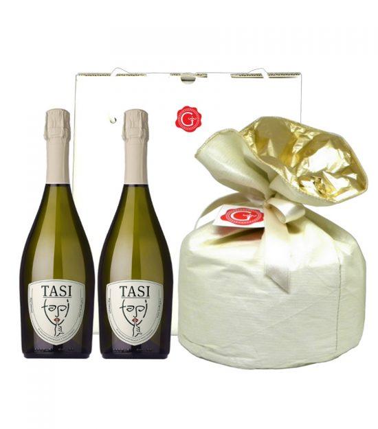 Confezione regalo panettone prosecco Gift Box panettone prosecco wine – Gustorotondo – Italian food boutique