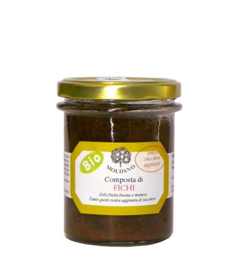 Composta fichi Bio Moldano 190 g senza zucchero aggiunto - No sugar added organic fig jam - Gustorotondo - Italian Food Boutique