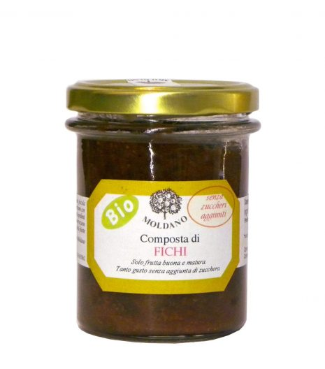 Composta fichi Bio Moldano 190 g - No sugar added organic fig jam - Gustorotondo - Italian Food Boutique