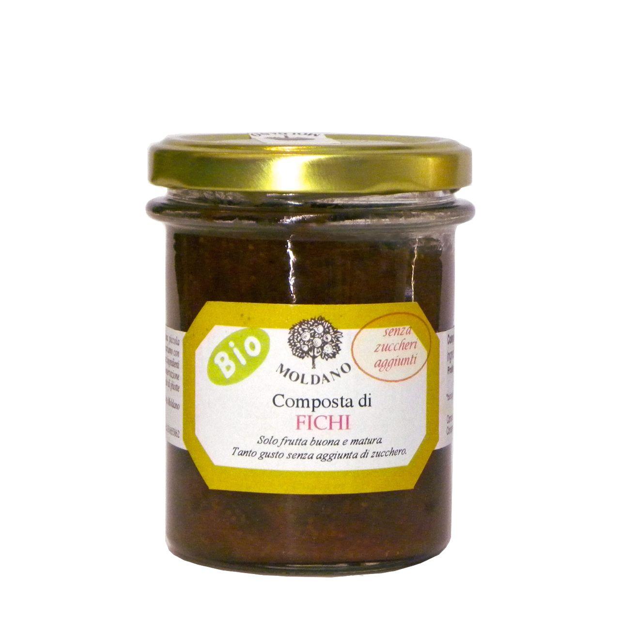 Composta fichi Bio Moldano 190 g – No sugar added organic fig jam – Gustorotondo – Italian Food Boutique – Versione 2