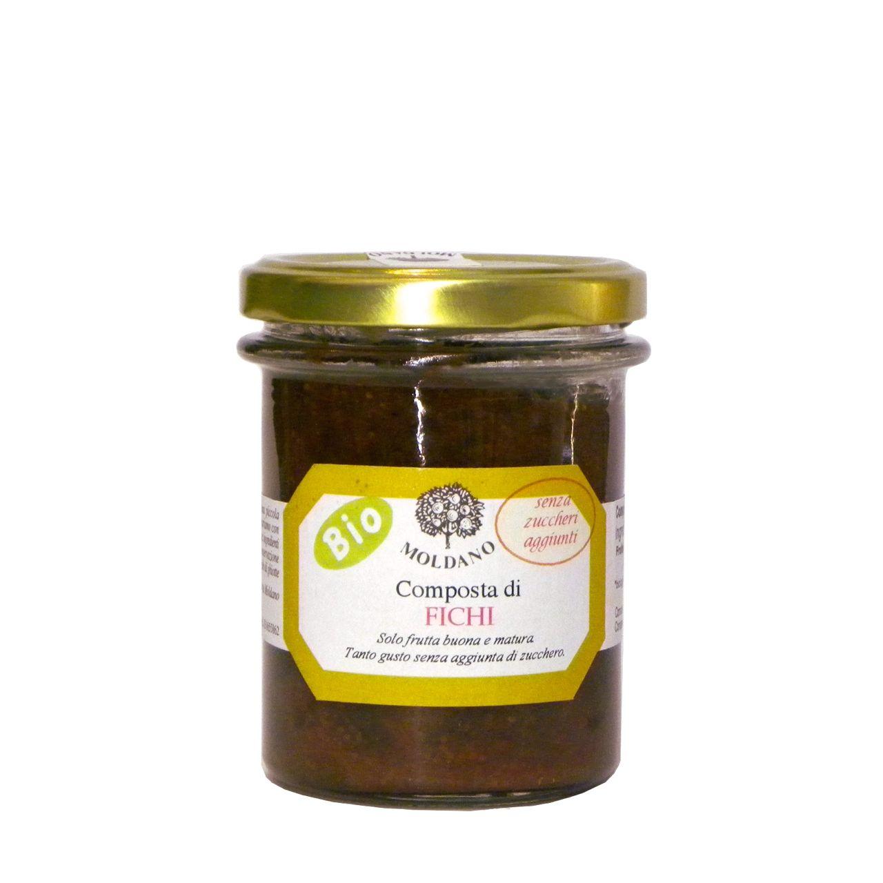 Composta fichi Bio Moldano 190 g senza zucchero aggiunto – No sugar added organic fig jam – Gustorotondo – Italian Food Boutique