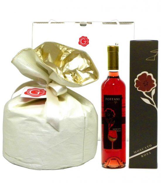 Confezione Regalo Panettone Moscato  – Gift Box Panettone Moscato – Gustorotondo – Italian Food Boutique