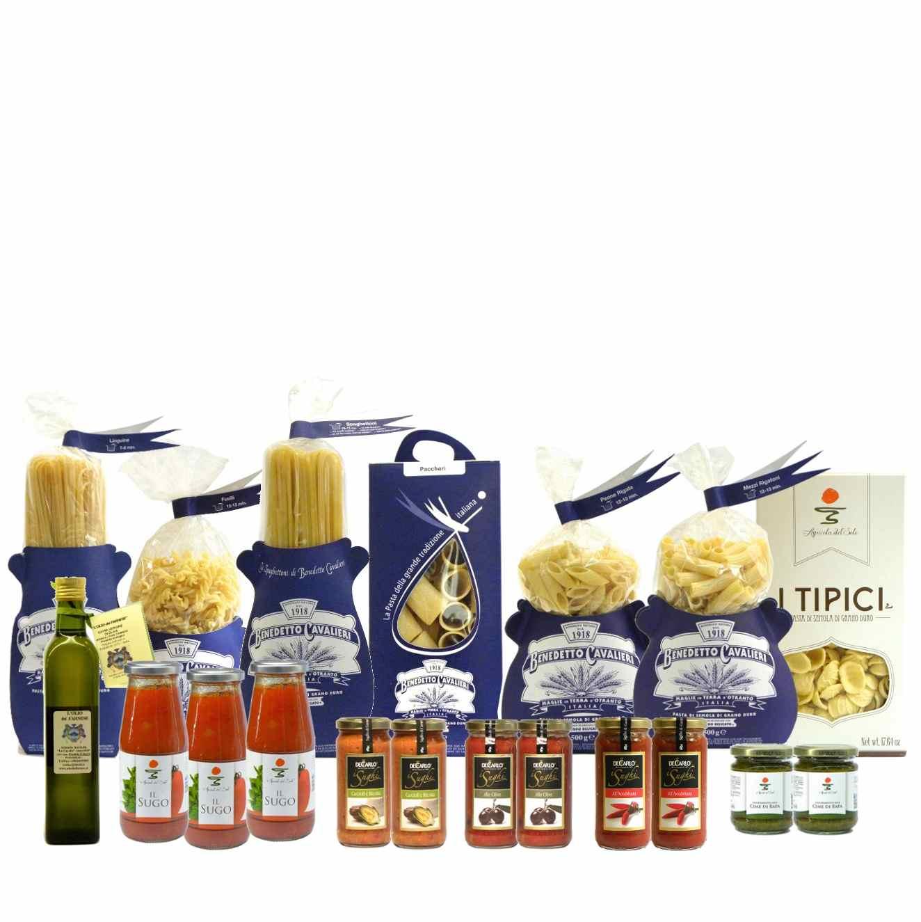 Dispensa Pasta Cavalieri Sughi Olio Extravergine – Pantry Cavalieri Pasta Sauces EVO Oil  – Gustorotondo – Italian Food Boutique