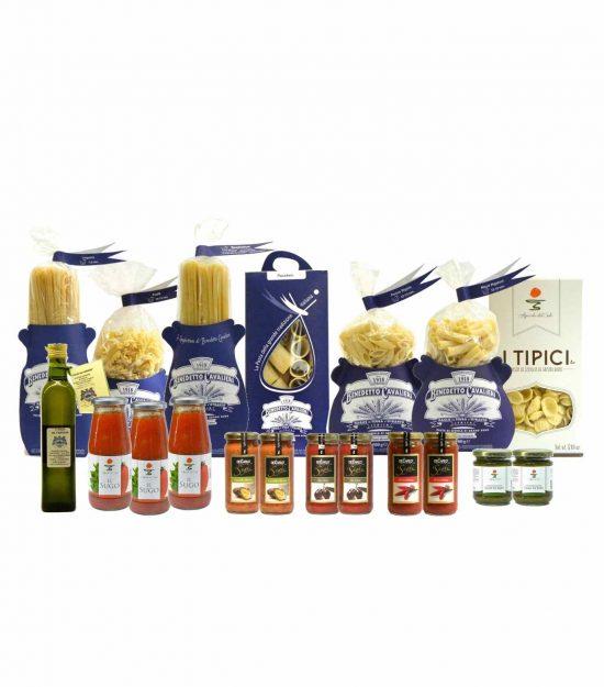 Dispensa Pasta Cavalieri Sughi Olio Extravergine – Pantry Cavalieri Pasta Sauces Extra Virgin Olive Oil – Gustorotondo – Italian Food Boutique