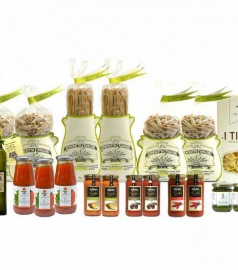 Dispensa Pasta Integrale Bio Cavalieri Sughi Olio Extravergine - Pantry Organic Whole Wheat Pasta Sauces EVO Oil - Gustorotondo - Italian Food Boutique