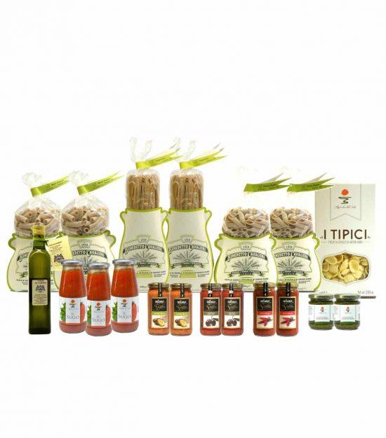Dispensa Pasta Integrale Biologica Cavalieri Sughi Olio Extravergine – Pantry Organic Whole Wheat Pasta Sauces EVO Oil  – Gustorotondo – Italian Food Boutique