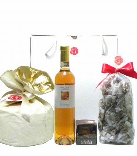Confezione Regalo Panettone Recioto Gianduiotti Amaretti - Gift Box - Gustorotondo - Italian Food Boutique