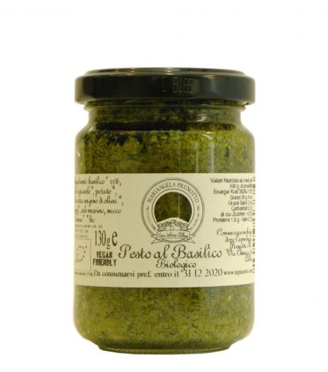 Pesto Basilico Prunotto Bio - Prunotto Organic Basil Pesto - Gustorotondo - Italian Food Boutique