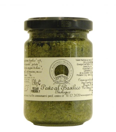 Pesto Basilico Prunotto Biologico - Prunotto Organic Basil Pesto - Gustorotondo - Italian Food Boutique