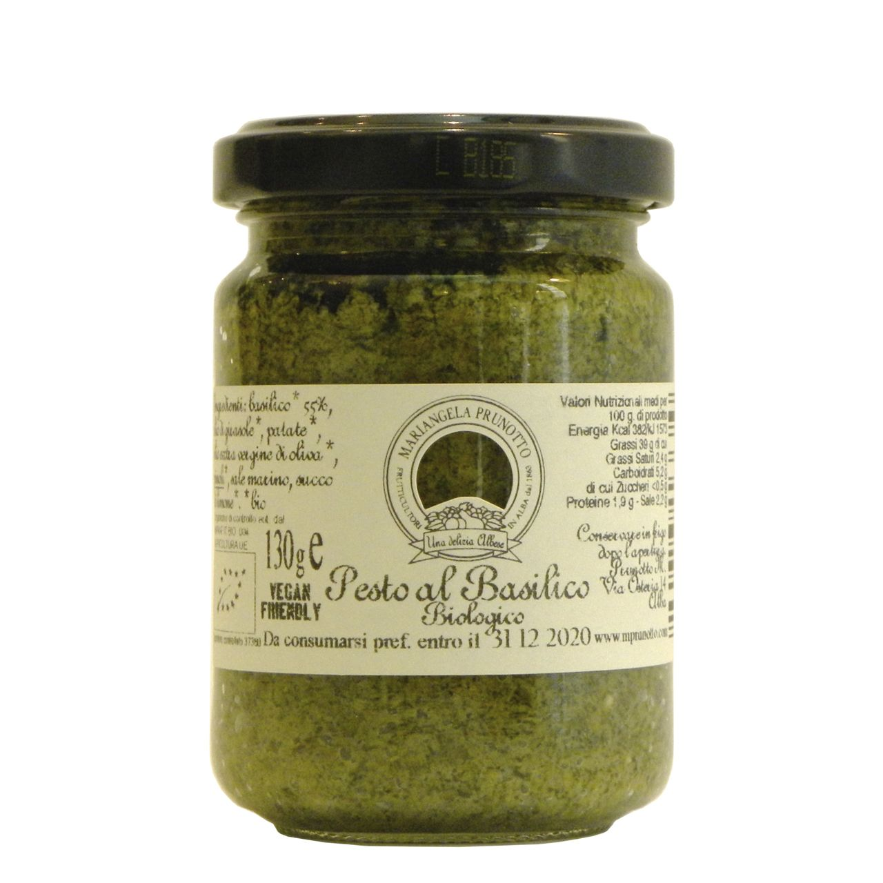 Pesto Basilico Prunotto Biologico – Prunotto Organic Basil Pesto – Gustorotondo – Italian Food Boutique