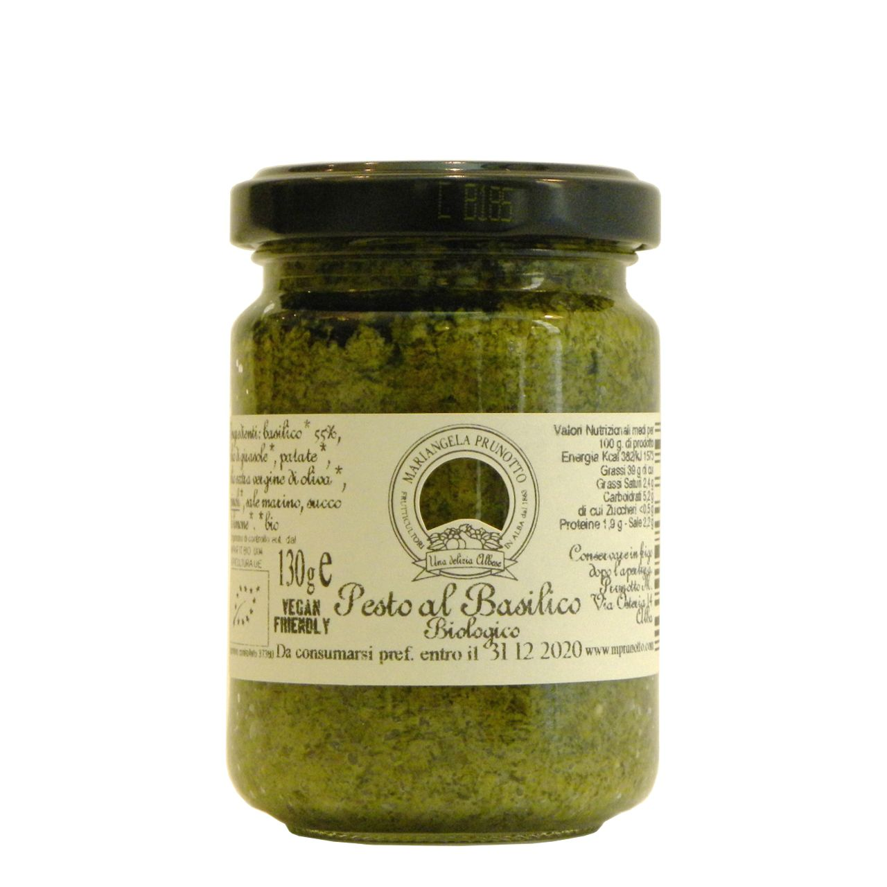 Pesto Basilico Prunotto Bio – Prunotto Organic Basil Pesto – Gustorotondo – Italian Food Boutique