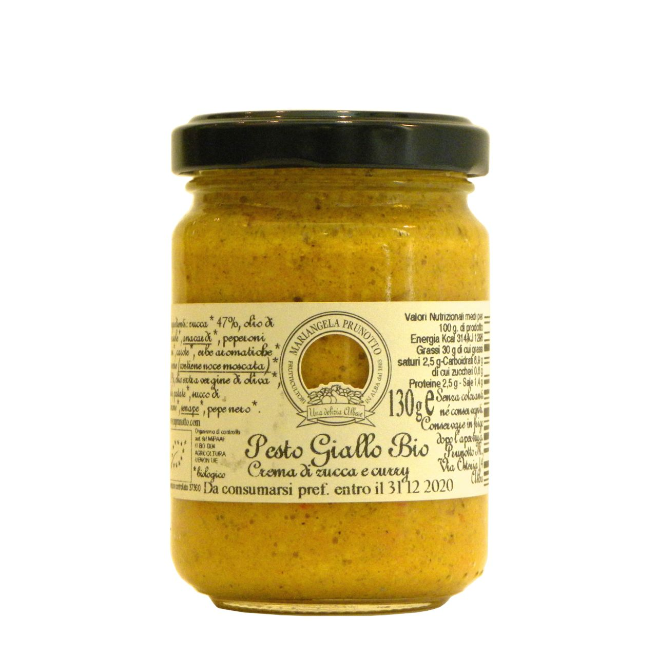 Pesto Giallo Prunotto Biologico – Prunotto Organic Yellow Pesto – Gustorotondo – Italian Food Boutique