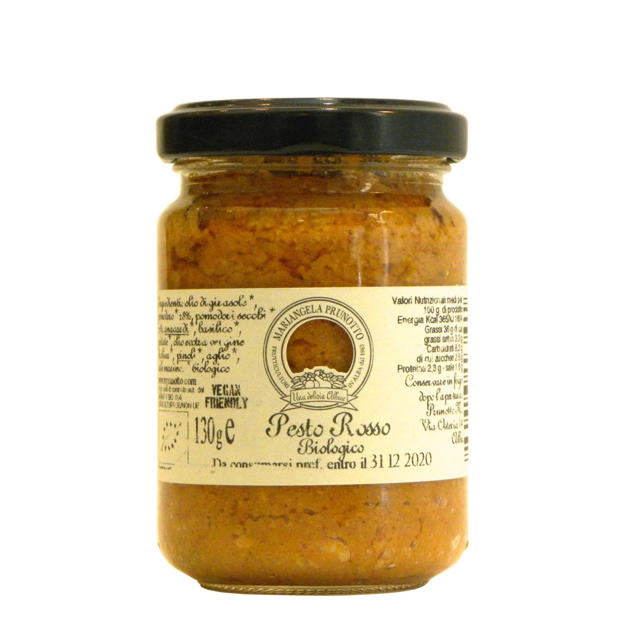 Pesto Rosso Bio Prunotto – Prunotto Red Pesto – Gustorotondo – Italian Food Boutique