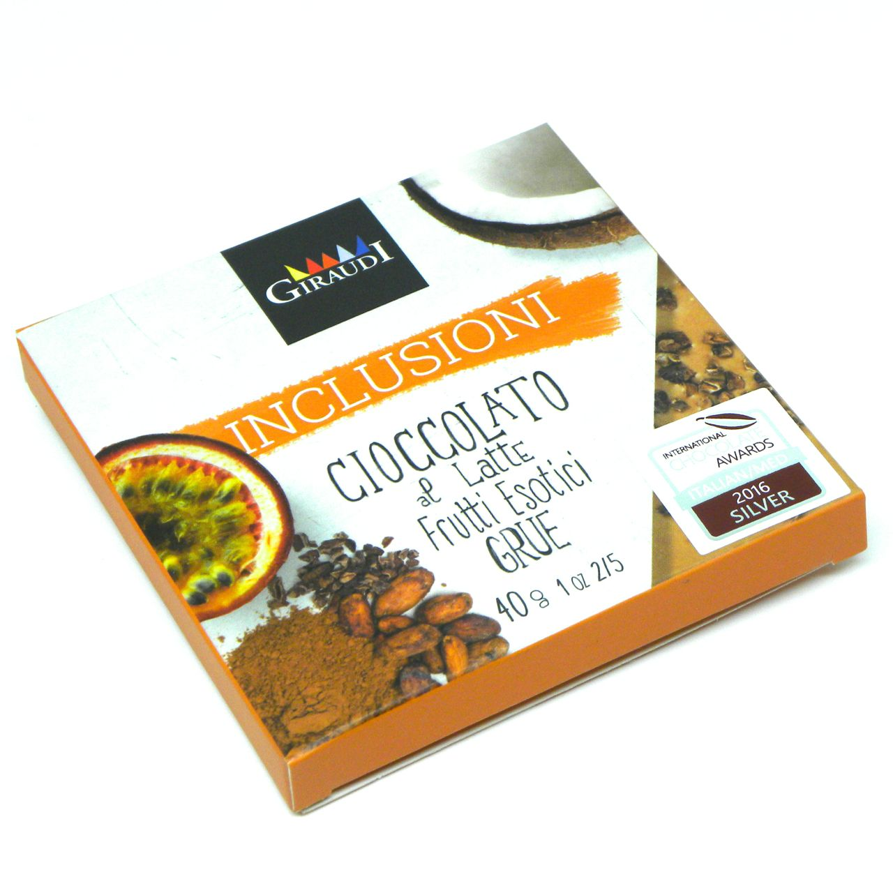 Inclusioni Giraudi Latte Frutti esotici Grue – Giraudi Inclusioni milk chocolate exotic fruits grue – Gustorotondo – Italian food boutique